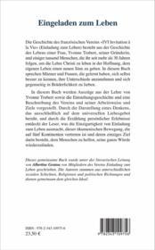 Eingeladen zum leben - 4ème de couverture - Format classique