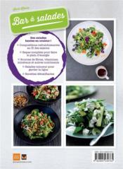 Bar à salades ; 80 délicieuses salades santé - 4ème de couverture - Format classique