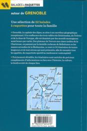 Balades à raquettes ; autour de Grenoble - 4ème de couverture - Format classique