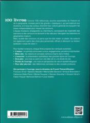 100 livres d'histoire et de géographie pour enrichir sa culture générale et réussir les concours (2e édition) - 4ème de couverture - Format classique