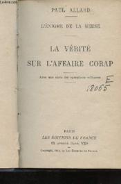 L'enigme de la Meuse - La vérité sur l'affaire Corap - Couverture - Format classique