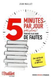 5 minutes par jour pour ne plus faire de fautes - Couverture - Format classique