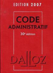 Code administratif (édition 2007) - Intérieur - Format classique