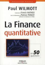 La finance quantitative ; en 50 questions - Intérieur - Format classique