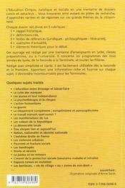 Dossiers D'Education Civique Juridique Et Sociale Vol.3 Lycee / Ecjs - 4ème de couverture - Format classique