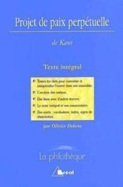 Projet de paix perpetuelle (kant) - Couverture - Format classique