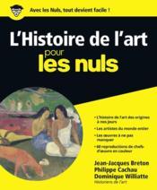 L'histoire de l'art pour les nuls - Couverture - Format classique