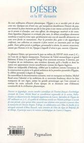 Djeser et la iiie dynastie - 4ème de couverture - Format classique