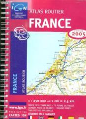 *france atlas routier 2005* (édition 2005) - Couverture - Format classique