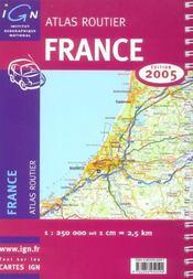 *france atlas routier 2005* (édition 2005) - 4ème de couverture - Format classique