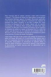 Mecanique du vol 2e ed - 4ème de couverture - Format classique