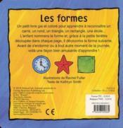 Les formes ; il y a 1 intrus - 4ème de couverture - Format classique