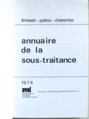 Limousin - Poitou - Charentes. Annuaire de la Sous-Traitance. - Couverture - Format classique