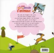 Mon livre de dessin des animaux - 4ème de couverture - Format classique