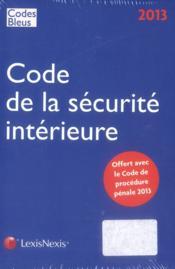 Code de procédure pénale 2013 - 4ème de couverture - Format classique