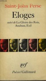 Eloges Suivi De La Gloire Des Rois, Anabase, Exil. Collection : Poesie. - Couverture - Format classique
