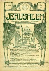 JERUSALEM, 25e ANNEE, N° 157, SEPT.-OCT. 1930, REVUE MENSUELLE ILLUSTREE - Couverture - Format classique
