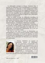 La philosophe didactitienne - 4ème de couverture - Format classique