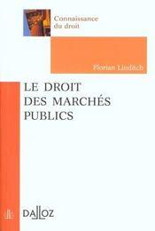 Le Droit Des Marchés Publics - Intérieur - Format classique