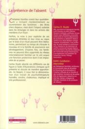 La présence de l'absent ; réalisme magique en thérapie - 4ème de couverture - Format classique