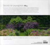 Secrets de paysagistes - 4ème de couverture - Format classique