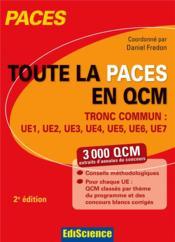 Toute la paces en qcm ; tronc commun ue1, ue2, ue3, ue4, ue5, ue6, ue7 - Couverture - Format classique