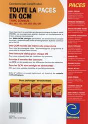 Toute la paces en qcm ; tronc commun ue1, ue2, ue3, ue4, ue5, ue6, ue7 - 4ème de couverture - Format classique