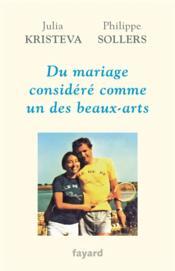Du mariage considéré comme un des beaux-arts - Couverture - Format classique