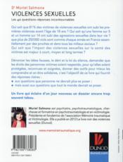 Violences sexuelles : les 40 questions-réponses incontournables - 4ème de couverture - Format classique