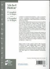Michel Butor - 4ème de couverture - Format classique