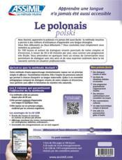 Le polonais ; débutants et faux-débutants B2 - 4ème de couverture - Format classique