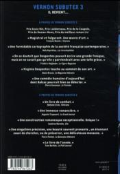 Vernon Subutex t.3 - 4ème de couverture - Format classique