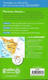GEOGUIDE ; Florence, Sienne (édition 2018) - 4ème de couverture - Format classique