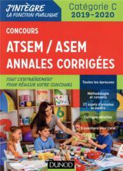 Concours ATSEM/ ASEM - annales corrigées - concours (édition 2019/2020) - Couverture - Format classique