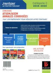 Concours ATSEM/ ASEM - annales corrigées - concours (édition 2019/2020) - 4ème de couverture - Format classique