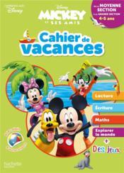 Mickey ; cahier de vacances ; de la moyenne section à la grande section - Couverture - Format classique