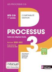 LES PROCESSUS 3 ; BTS CG ; gestion des obligations fiscales ; 1re année (édition 2020) - Couverture - Format classique