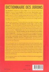 Dictionnaire des jurons - 4ème de couverture - Format classique