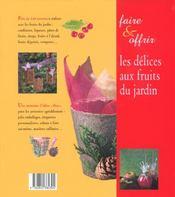 Delices Aux Fruits Du Jardin - 4ème de couverture - Format classique