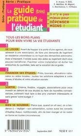 Le Guide Tres Pratique De L'Etudiant - 4ème de couverture - Format classique