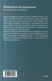Nourrices Et Nounous - 4ème de couverture - Format classique