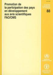 Promotion de la participation des pays en developpement aux avis scientifiques rapport d'une reunion - Couverture - Format classique