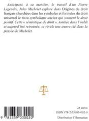 Origines du droit français t.2 ; cherchées dans les symboles et formules du droit universel - 4ème de couverture - Format classique