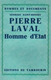 Pierre Laval, homme d'Etat - Couverture - Format classique