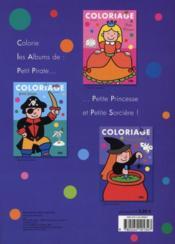 Coloriage ; petite sorcière - 4ème de couverture - Format classique