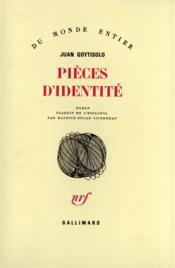 Pieces D'Identite - Couverture - Format classique