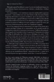 L'anticonformiste ; une autobiographie intellectuelle - 4ème de couverture - Format classique