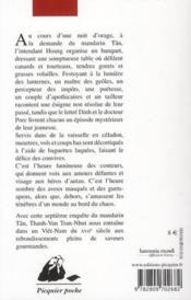 Le banquet de la licorne - 4ème de couverture - Format classique