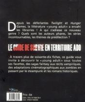 Guide de survie en territoire ado ; suggestions de lectures young adult - 4ème de couverture - Format classique