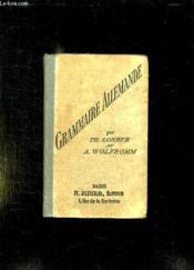 Grammaire Allemande. - Couverture - Format classique